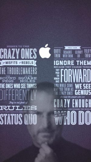 Steve Jobs Quotes iPhone 7 wallpaper