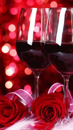 Valentine Wine And Roses iPhone 7 wallpaper