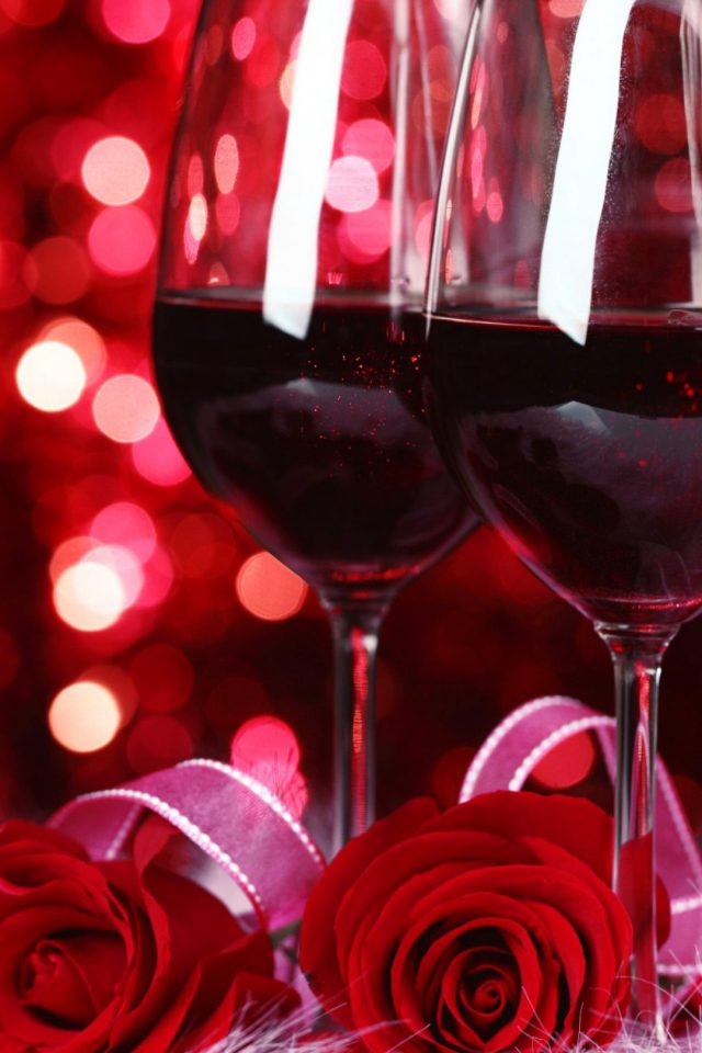Valentine Wine And Roses Iphone 7 Wallpaper Iphone7wallpapers Co
