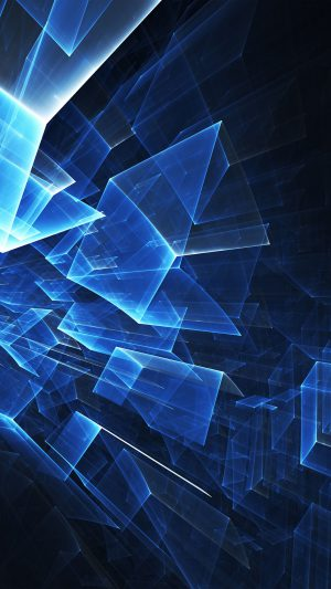 Abstract Blue Cube Pattern iPhone 7 wallpaper