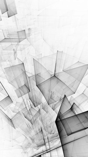 Abstract Bw White Cube Pattern iPhone 7 wallpaper