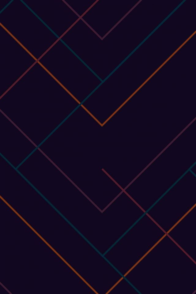 Abstract Dark Geometric Line Pattern IPhone Wallpaper