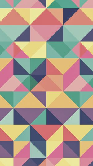 Abstract Polygon Art Pattern Rainbow iPhone 7 wallpaper