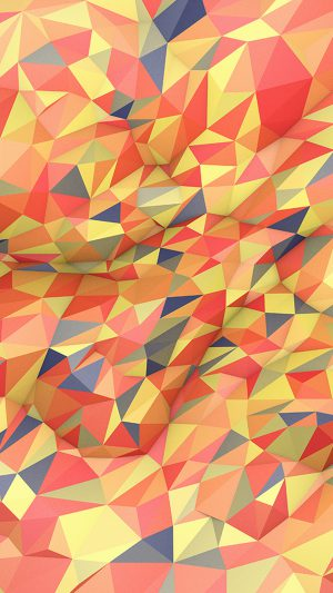 Abstract Red Yellow Polyart Pattern iPhone 7 wallpaper