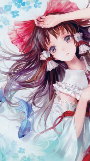 Anime Art Paint Girl Cute iPhone 7 wallpaper