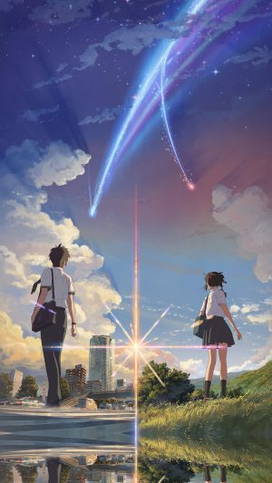 Anime Film Yourname Sky Illustration Art iPhone 7 wallpaper