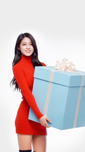 Aoa Seolhyun Cute Chirstmas Girl Kpop iPhone 7 wallpaper