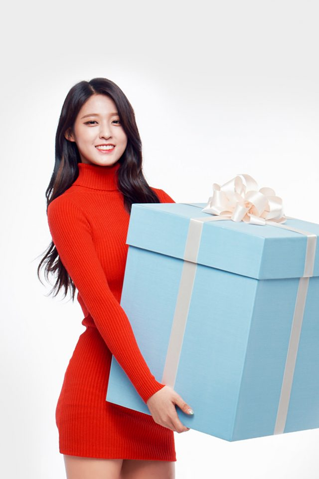 Aoa Seolhyun Cute Chirstmas Girl Kpop iPhone wallpaper