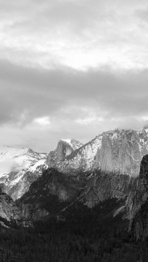 Apple El Capitan OSX Mac Mountain Wwdc Dark Bw iPhone 7 wallpaper