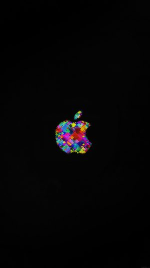 Apple Event Logo Art Dark Minimal iPhone 7 wallpaper