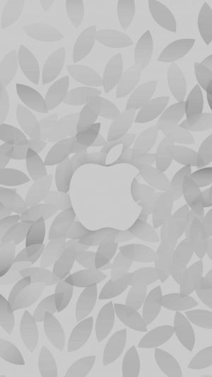 Apple In Fall White Pattern iPhone 7 wallpaper