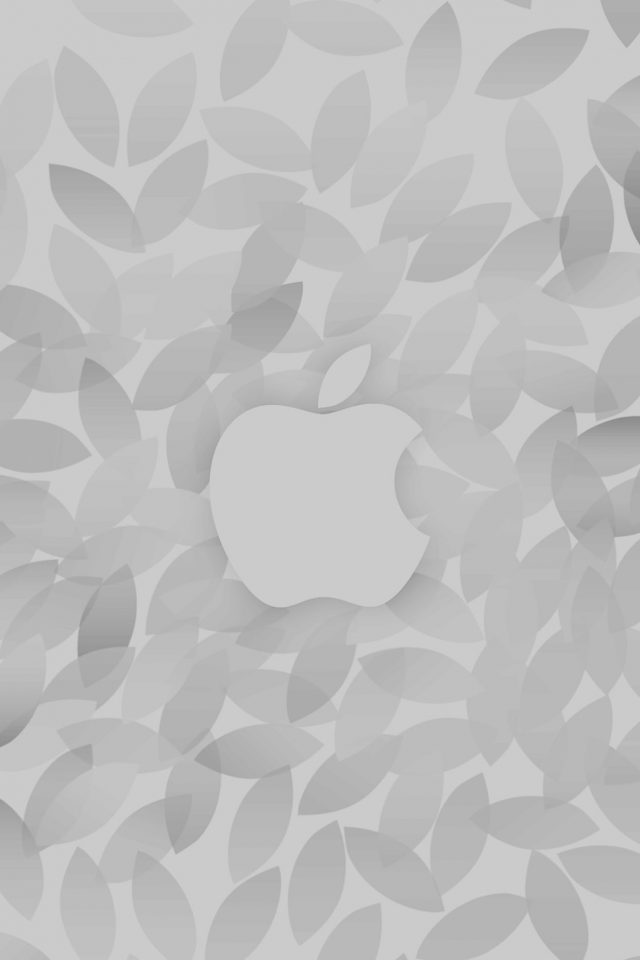Apple In Fall White Pattern iPhone wallpaper