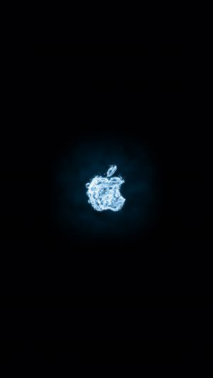 Apple Logo Dark Water Blue Art Illustration iPhone 7 wallpaper
