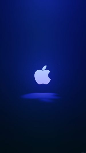 Apple Logo Love Mania Blue iPhone 7 wallpaper