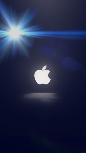 Apple Logo Love Mania Flare iPhone 7 wallpaper