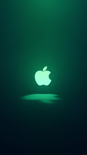 Apple Logo Love Mania Green iPhone 7 wallpaper