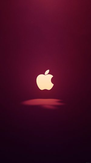 Apple Logo Love Mania Wine Red iPhone 7 wallpaper