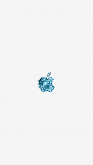 Apple Logo Water White Blue Art Illustration iPhone 7 wallpaper