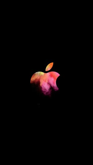 Apple Mac Event Logo Dark Illustration Art iPhone 7 wallpaper