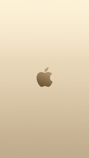 Apple Pink Yellow Gold Minimal Illustration Art iPhone 7 wallpaper