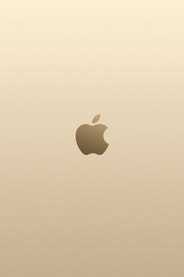 Apple Pink Yellow Gold Minimal Illustration Art iPhone wallpaper