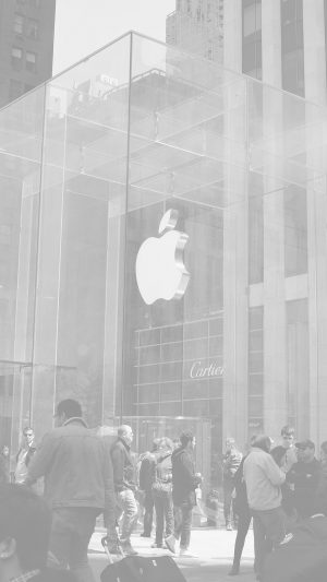 Apple Shop Newyork White Cartier City iPhone 7 wallpaper