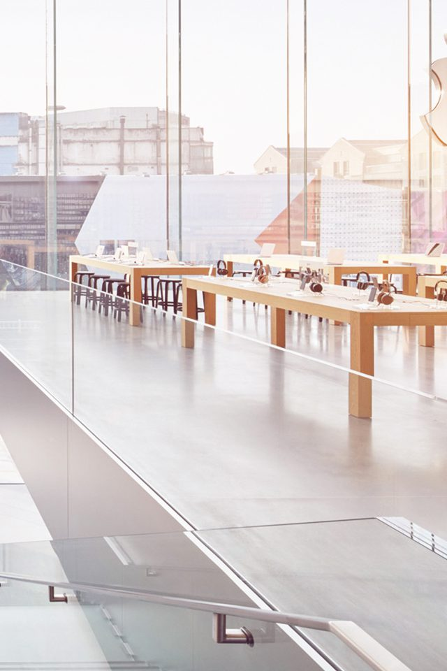 Apple Shop Store Interior City iPhone wallpaper