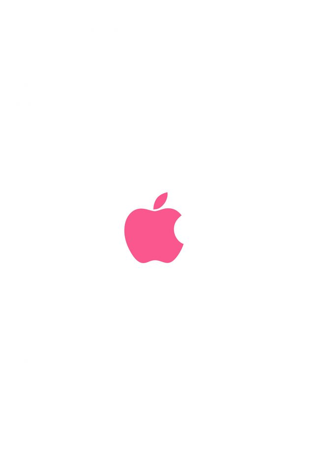Apple Simple Logo Color Red Minimal iPhone wallpaper