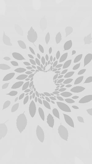Apple Store Leafs Art Pattern Bw iPhone 7 wallpaper