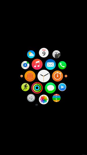 Apple Watch Icons Art Illust Dark iPhone 7 wallpaper
