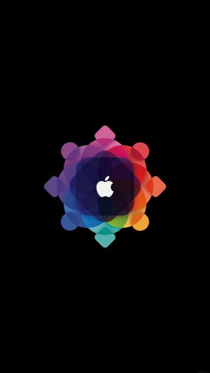 Apple Wwdc Art Logo Minimal Dark iPhone 7 wallpaper
