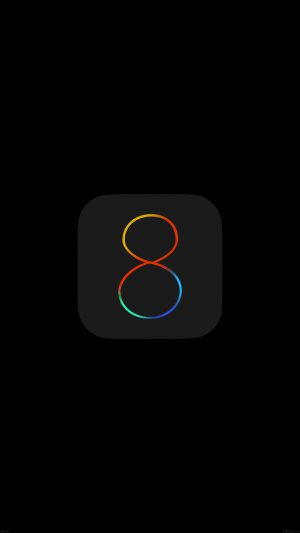Apple IOS8 Dark Logo iPhone 7 wallpaper