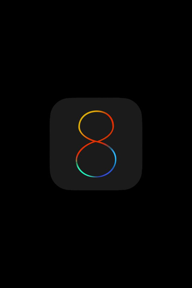 Apple IOS8 Dark Logo iPhone wallpaper