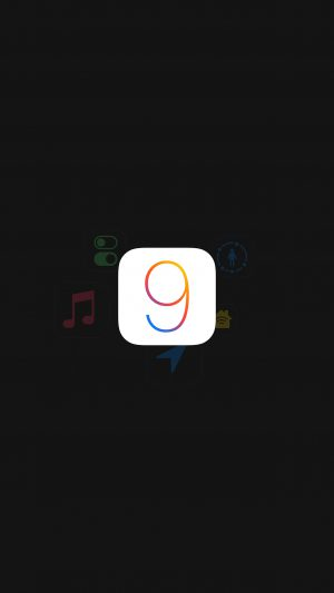 Apple IOS9 Logo Dark Simple Art iPhone 7 wallpaper