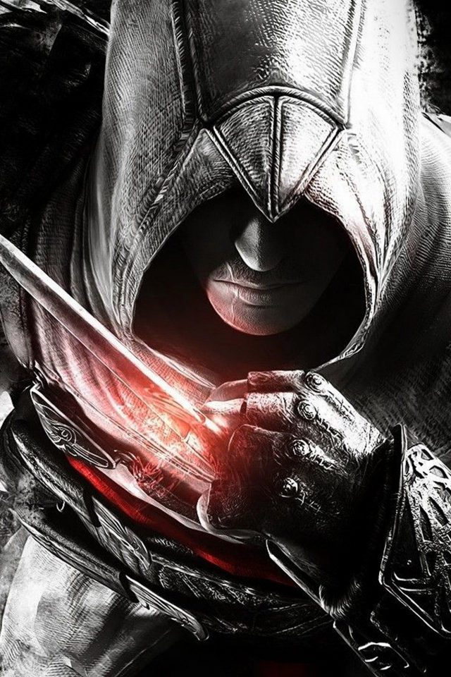 Assassins Creed Dark Game Hero Illustration Art iPhone wallpaper