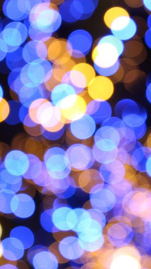 Bokeh Art Light Blue Pattern iPhone 7 wallpaper