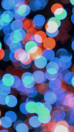 Bokeh Art Light Blue Red Pattern iPhone 7 wallpaper