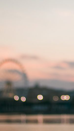 Bokeh Circle Sunset Afternoon London iPhone 7 wallpaper