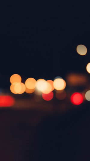 Bokeh Dark Lights Night Art Simple iPhone 7 wallpaper