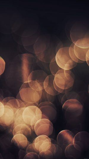 Bokeh Orange Nature Lights Blur iPhone 7 wallpaper