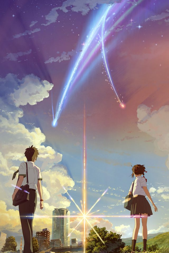 Boy And Girl Anime Art Spring Cute Flare iPhone wallpaper
