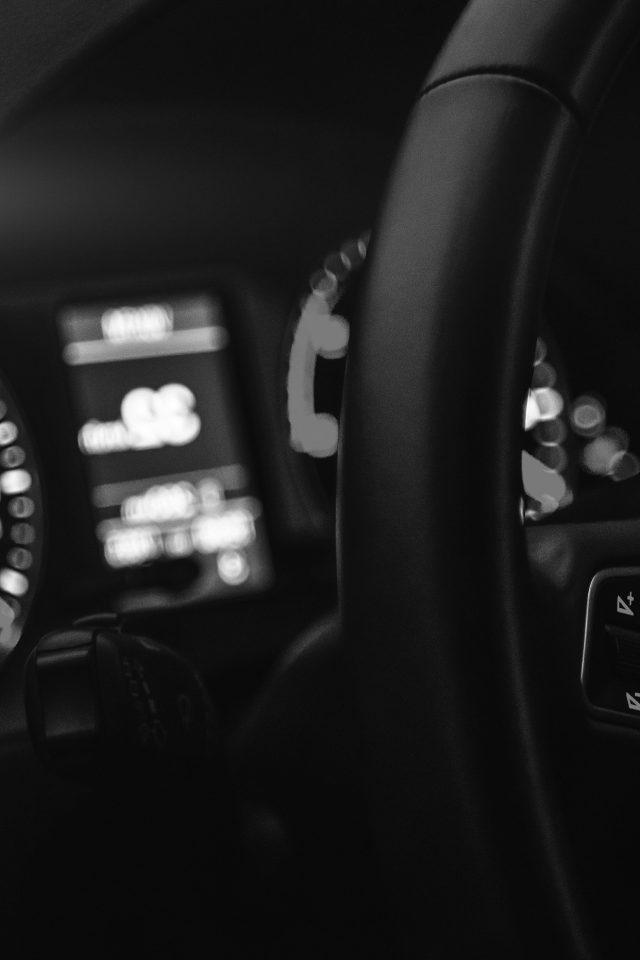Car Audi Drive Interior Motor Man Dark Bw Night Iphone 7 Wallpaper