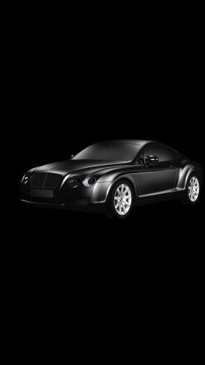 Car Bentley Dark Black Limousine Art Illustration iPhone 7 wallpaper