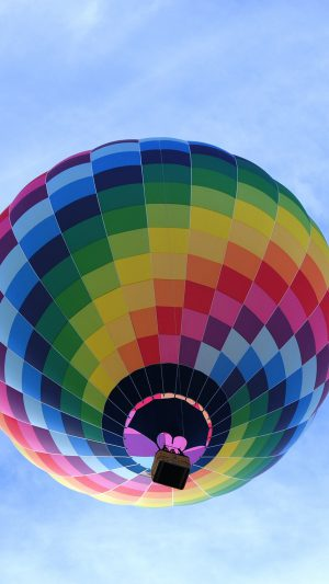 Color Air Balloon Sky Fun iPhone 7 wallpaper