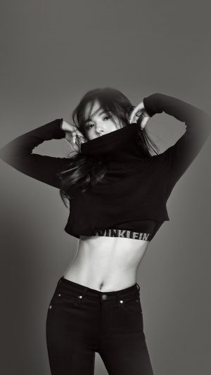 Dark Bw Girl Slim Black Kpop iPhone 7 wallpaper
