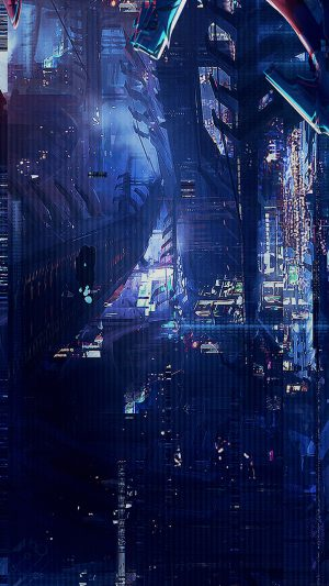 Digital World Anime Art Illust Urban iPhone 7 wallpaper