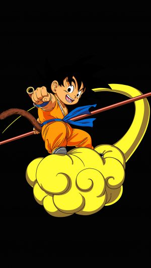Dragonball Goku Cloud Fly Anime Art Illust iPhone 7 wallpaper
