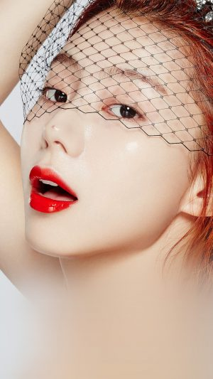 Face Kpop Sujin Lips Red iPhone 7 wallpaper