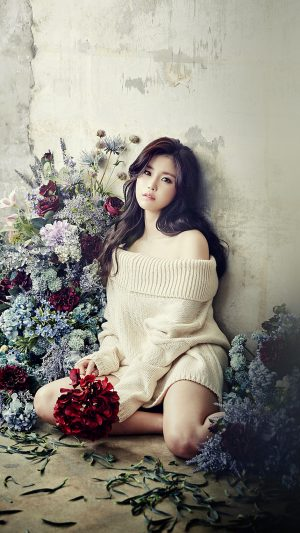 Flower Girl Hyosung Girl Kpop Celebrity iPhone 7 wallpaper