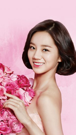 Flower Hyeri Cute Pink Kpop Girl iPhone 7 wallpaper
